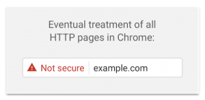 Chrome Site Not Secure Warning