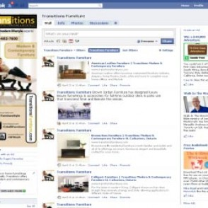 Transitions Furniture Facebook Fan Page