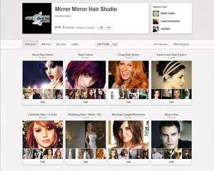Mirror Mirror Hair Sudio Pinterest