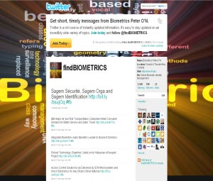 Twitter FindBiometrics