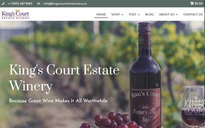 Wine Website Designers Winery